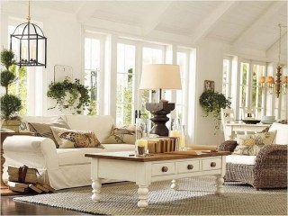 Awesome French Farmhouse Living Room Design Ideas 18