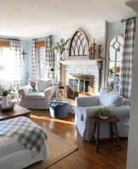 Awesome French Farmhouse Living Room Design Ideas 19