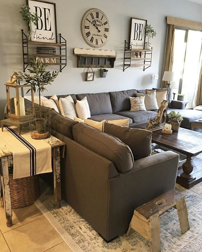 Awesome French Farmhouse Living Room Design Ideas 42