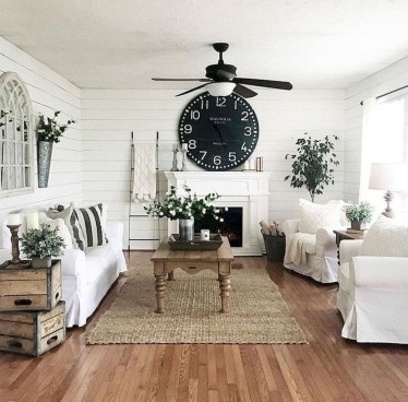 Awesome French Farmhouse Living Room Design Ideas 45