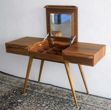 Cozy Mid Century Dressing Tables Vanities Ideas 07