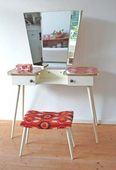 Cozy Mid Century Dressing Tables Vanities Ideas 14