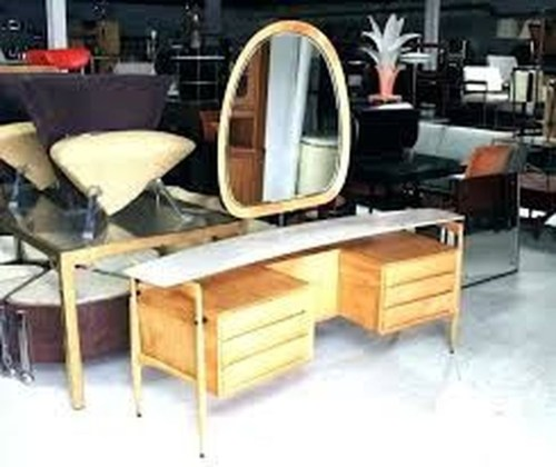 Cozy Mid Century Dressing Tables Vanities Ideas 24