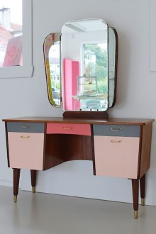 Cozy Mid Century Dressing Tables Vanities Ideas 47