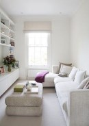 Incredible White Walls Living Room Design Ideas 03