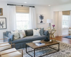 Incredible White Walls Living Room Design Ideas 34