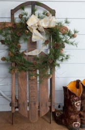 Magnificient Rustic Christmas Decorations And Wreaths Ideas 16