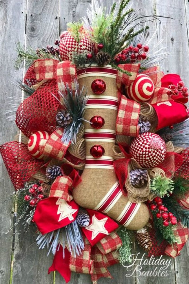 Magnificient Rustic Christmas Decorations And Wreaths Ideas 23