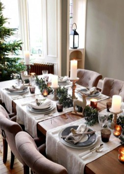 Modern Rustic Christmas Table Settings Ideas 04