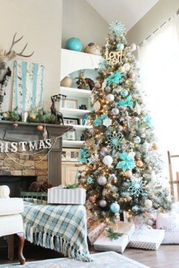 Stylish Decorated Christmas Trees 2018 Ideas 51