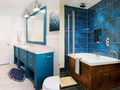 Wonderful Color Combination For Your Bathroom Design Ideas 15