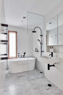 Wonderful Color Combination For Your Bathroom Design Ideas 26
