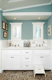 Wonderful Color Combination For Your Bathroom Design Ideas 27