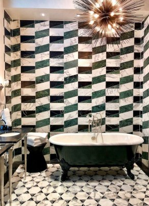 Wonderful Color Combination For Your Bathroom Design Ideas 43