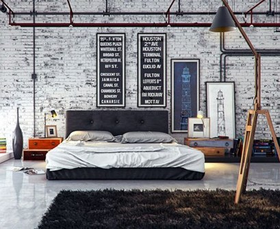 Attractive Industrial Bedroom Design Ideas 18