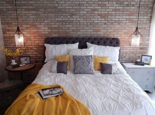 Attractive Industrial Bedroom Design Ideas 19