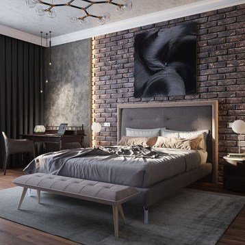 Attractive Industrial Bedroom Design Ideas 25
