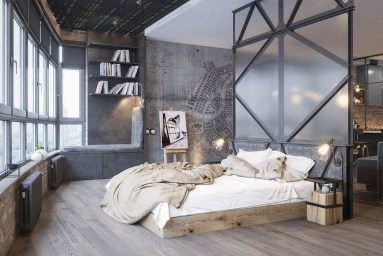 Attractive Industrial Bedroom Design Ideas 34