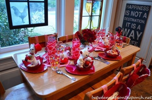 Cute Table Setting Ideas For Valentines Day 02