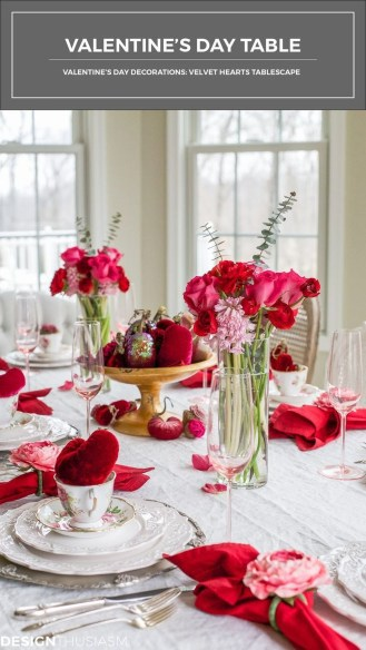 Cute Table Setting Ideas For Valentines Day 20