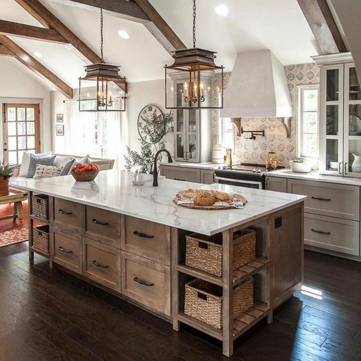 Modern Kitchen Island Decor Ideas 45