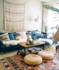 Romantic Rustic Bohemian Living Room Design Ideas 25
