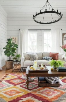 Romantic Rustic Bohemian Living Room Design Ideas 30