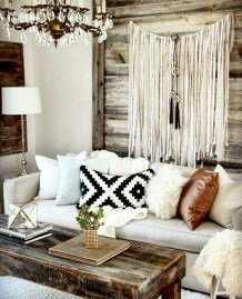 Romantic Rustic Bohemian Living Room Design Ideas 35