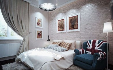 Wonderful Ezposed Brick Walls Bedroom Design Ideas 24