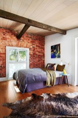 Wonderful Ezposed Brick Walls Bedroom Design Ideas 28