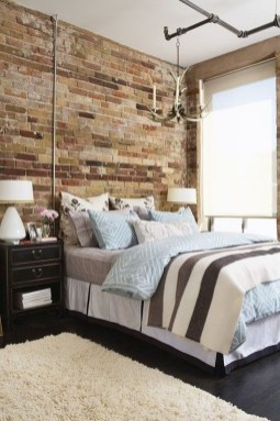 Wonderful Ezposed Brick Walls Bedroom Design Ideas 48