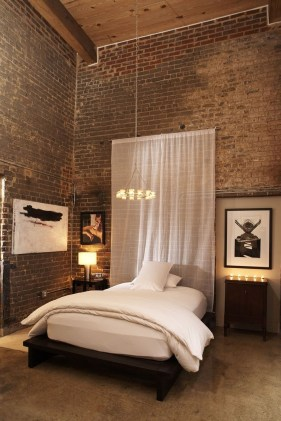 Wonderful Ezposed Brick Walls Bedroom Design Ideas 53