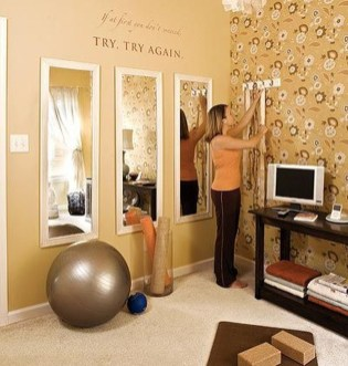 Cheap Home Gym Decorating Ideas For Small Space 42