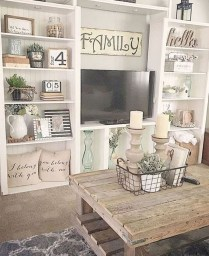 Lovely Farmhouse Living Room Decor Ideas 13