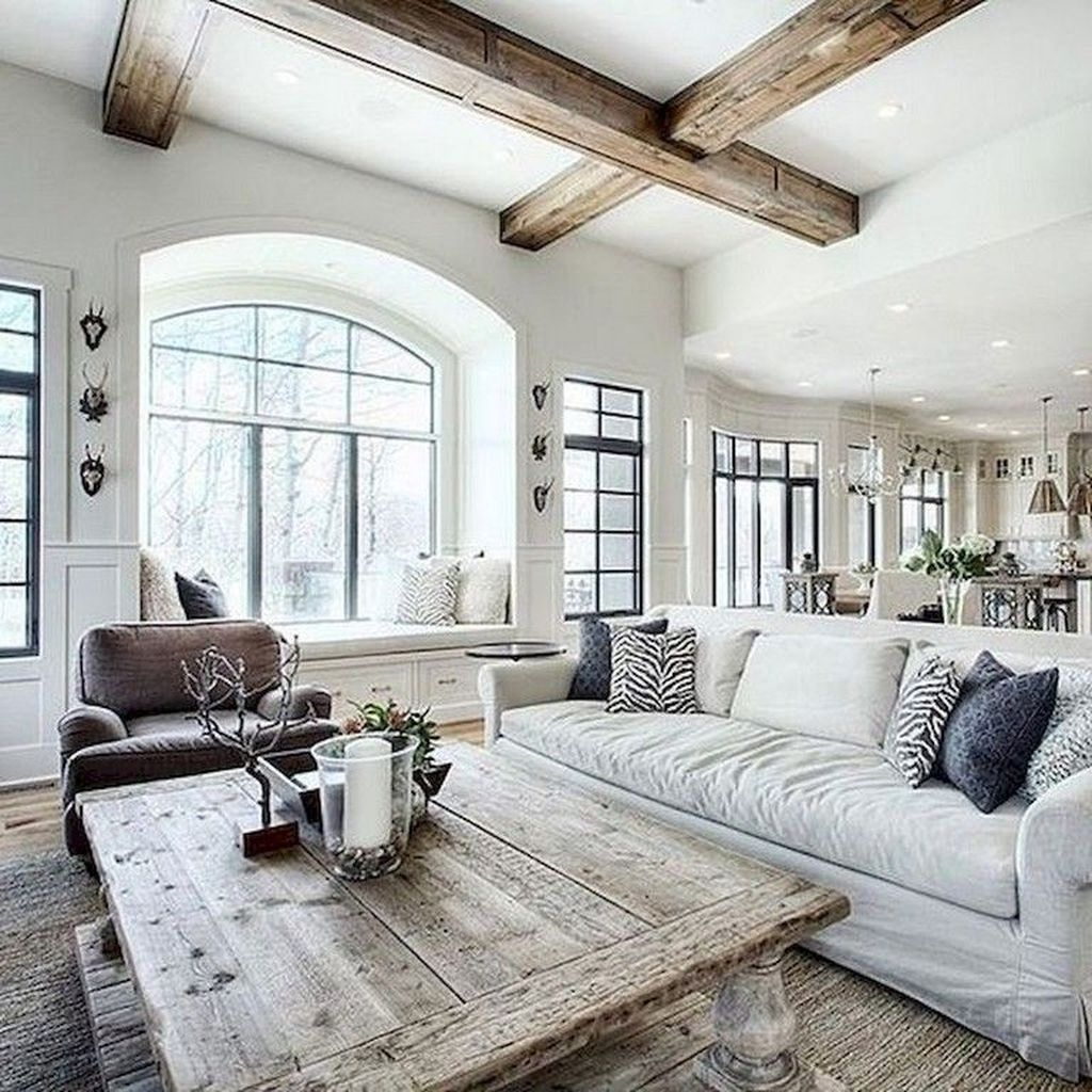 20+ Lovely Farmhouse Living Room Decor Ideas - COODECOR