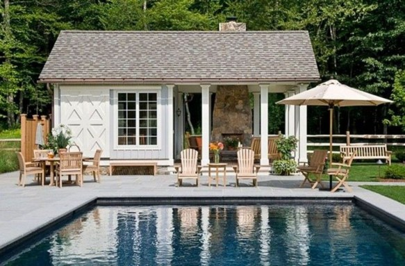 Nice Pool House Decorating Ideas On A Budget 41