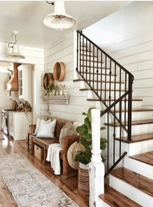 Perfect Living Room Staircase Design Ideas 36