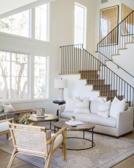Perfect Living Room Staircase Design Ideas 44
