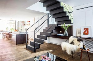 Perfect Living Room Staircase Design Ideas 50