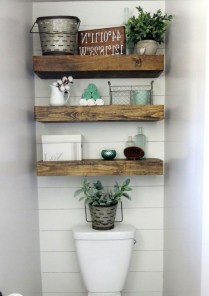 Stunning Bathroom Storage Shelves Organization Ideas 01