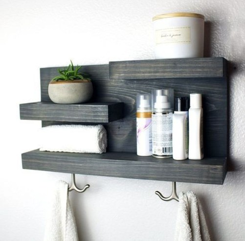 Stunning Bathroom Storage Shelves Organization Ideas 13