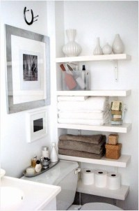 Stunning Bathroom Storage Shelves Organization Ideas 27