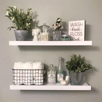 Stunning Bathroom Storage Shelves Organization Ideas 30