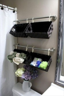 Stunning Bathroom Storage Shelves Organization Ideas 33