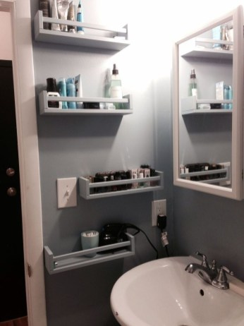 Stunning Bathroom Storage Shelves Organization Ideas 38