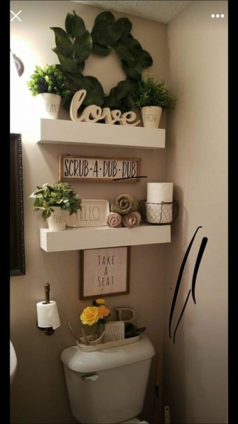 Stunning Bathroom Storage Shelves Organization Ideas 44
