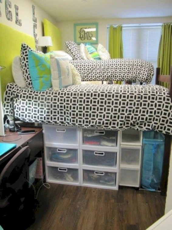 Unique Dorm Room Storage Organization Ideas On A Budget 55