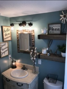 Wonderful Farmhouse Bathroom Decor Ideas 19
