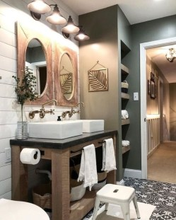 Wonderful Farmhouse Bathroom Decor Ideas 28