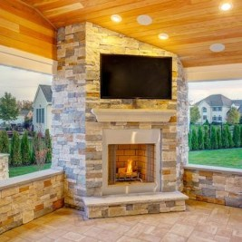 Wonderful Outdoor Fireplace Design Ideas 04